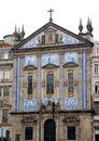 Congregados church porto portugal in baroque style th century tiled with azulejos portuguese traditional blue and white tiled Royalty Free Stock Photos