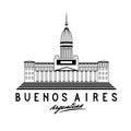 Congress in Buenos Aires, Argentina, vector illustra