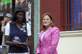 Congresswoman mellissa cerano at yomo toro street dedication bronx new york july council member melissa mark viverito right with Royalty Free Stock Photos
