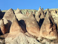 Conical rock formations, Cappadocia, Turkey Royalty Free Stock Image