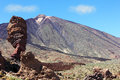 The conical volcano Mount Teide Royalty Free Stock Images