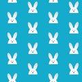 Coniglio felice bunny blue seamless background di pasqua Immagine Stock Libera da Diritti