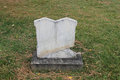 Conjoined Twin Marble Headstones in Old Cemetery Royalty Free Stock Photo