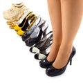 Conjunto de los zapatos del verano para la mujer moderna Imagenes de archivo