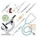 Conjunto de medicina Imagen de archivo libre de regalías