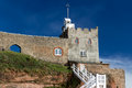 Connaught gardens sidmouth devon and jacob's ladder at england uk europe Stock Image