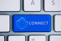 Connect button keyboard Royalty Free Stock Photo