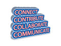 Connect collaborate communicate contribute a vector based illustration of Stock Images