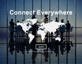 Connect Everywhere Global Network Worldwide Concept Royalty Free Stock Photo