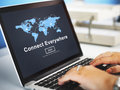 Connect everywhere globalization interconnection communication c concept Royalty Free Stock Photo