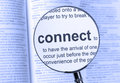 Connect highlighted with a blue hue Royalty Free Stock Photos