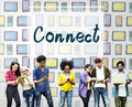 Connect Interact Communication Social Media Concept Royalty Free Stock Photo