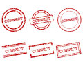 Connect stamps Royalty Free Stock Photos