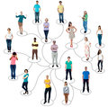 Connected people social network communication Royalty Free Stock Photo