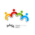 Connected team leadership symbol vector illustration Royalty Free Stock Images