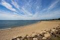Connecticut coastline beach along the Stock Photo