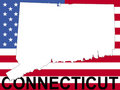 Connecticut with flag Royalty Free Stock Image