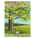 Connecticut travel poster or sticker.