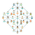 Connecting people icons set isolated on white background. Royalty Free Stock Photo