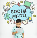 Connecting Social Media Communication Concept Royalty Free Stock Photo