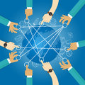 Connecting world building transportation network globe collaboration team work interconnection infrastructure Stock Image