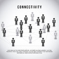 Connectivity design over gray background vector illustration Stock Images