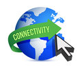 Connectivity globe cursor illustration Stock Image