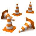 Conos del tráfico Foto de archivo libre de regalías