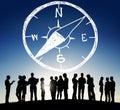 Conpass Longtitude Latitude Navigation Direction Adventure Conce Royalty Free Stock Photo
