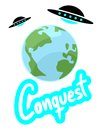 Conquest world creative design of Stock Image