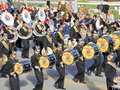 Conroe Tiger Band Marching Band Stock Photo