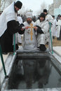 Consecration ice-hole Stock Images