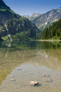 Conservation area vilsalpsee in the valley of tannheim in tirol Royalty Free Stock Photos