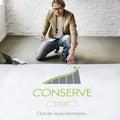 Conserve ecology environmental preservation concept Royalty Free Stock Photos
