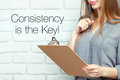 Consistency is the key! Royalty Free Stock Photo