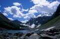 Consolation Lake, Canadian Rockies Stock Photo