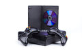 Console accessories with game disk Royalty Free Stock Photography