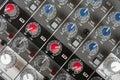 Console de controle audio Fotografia de Stock Royalty Free