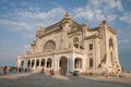 Constanta casino facade the front of at seaside romania on black sea coast Stock Images