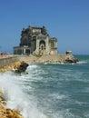 Constanta casino on the seashore in city romania Stock Photography