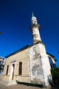 Constanta hunchiar mosque located in the historic center of the was built in and it s the oldest in the city the minaret is Stock Photo