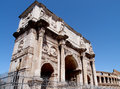 Constantin arch world famous in rome italy Royalty Free Stock Image