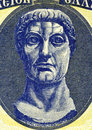 Constantine the great on drachmai banknote from greece roman emperor during best known for being first roman emperor to be Royalty Free Stock Image