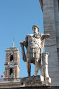 Constantine statue of the great at campidoglio in rome italy caesar flavius valerius aurelius constantinus augustus was the first Royalty Free Stock Photos