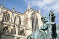 Constantine statue view of the outside york minster england Stock Images