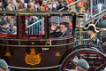 Constatijn van oranje the hague holland sept the carriage with prince on prinsjesdag opening of parliamentary year by queen on Royalty Free Stock Image