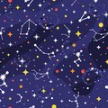 Constellation seamless pattern. Space background. Galaxy print. Space pattern with stars, milky way, constellations