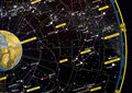 Constellation star map Royalty Free Stock Photo