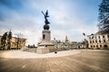 Constitution square in kharkiv ukraine december the city center after a recent overhaul on december ukraine Stock Image