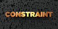 Constraint - Gold text on black background - 3D rendered royalty free stock picture Royalty Free Stock Photo